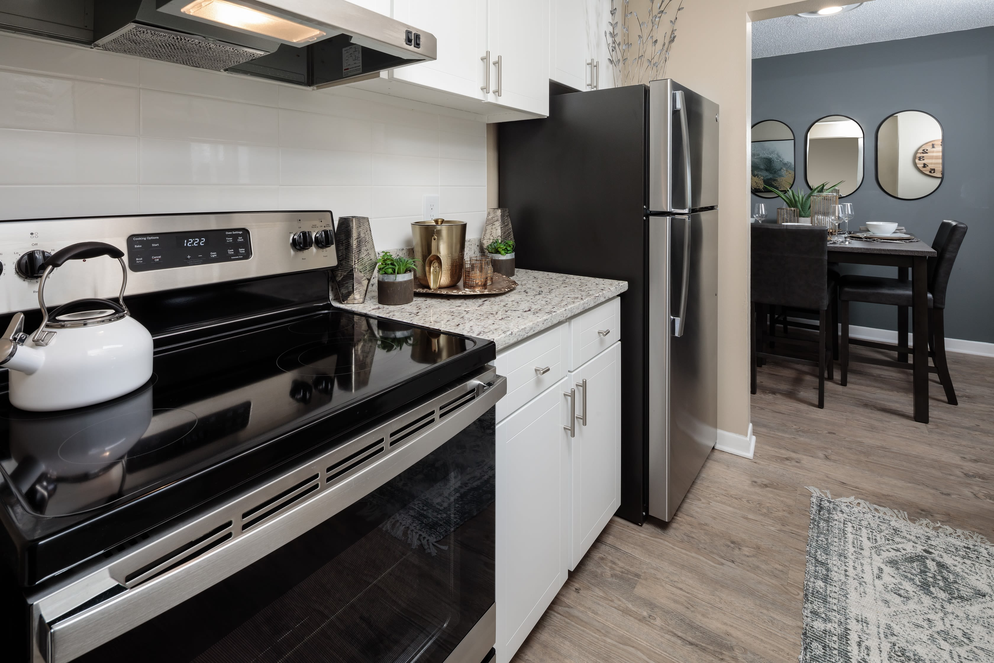 Stainless steel appliances at The Braxton in Palm Bay, FL