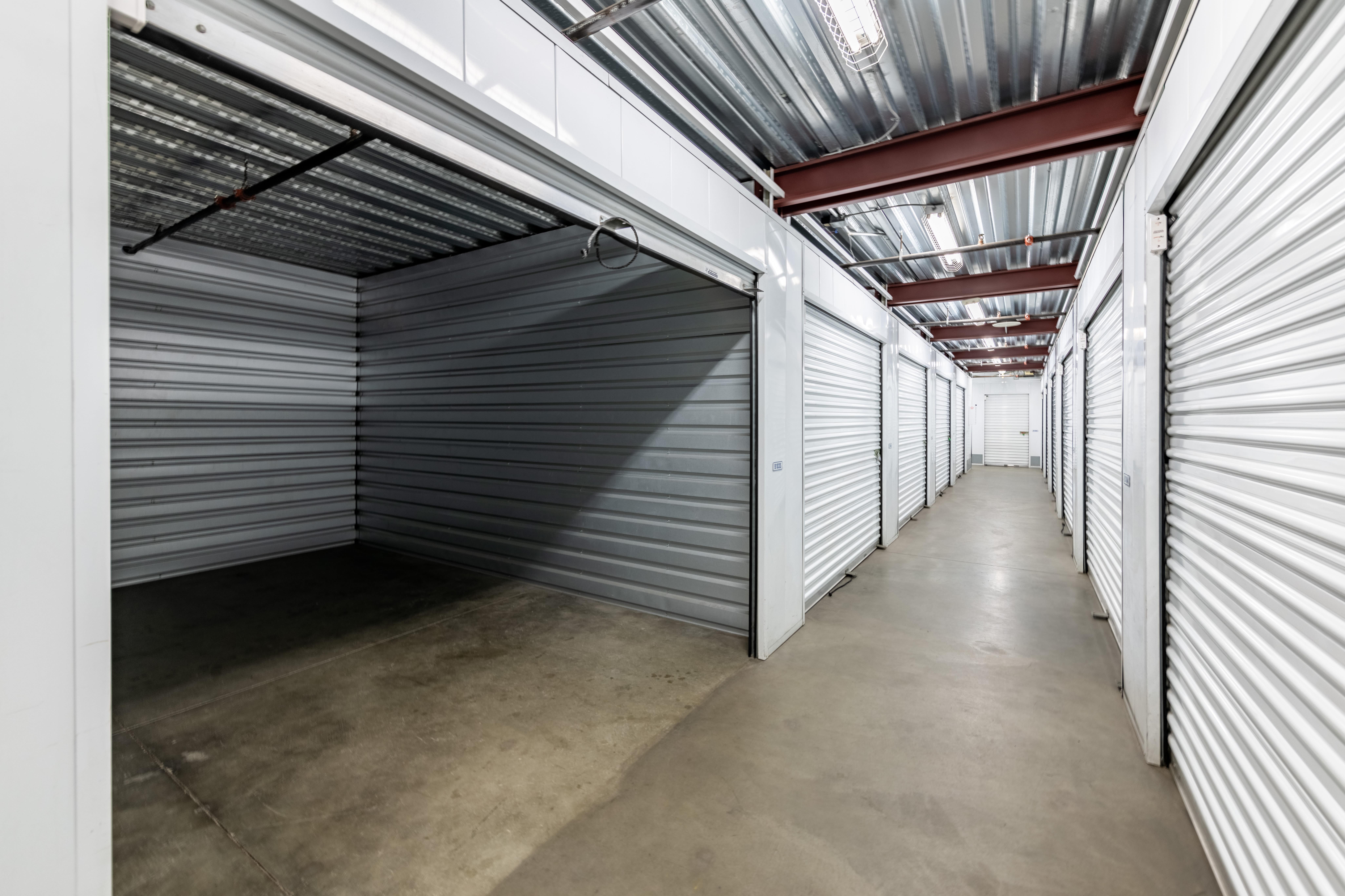 Open Indoor Storage Unit at at Storage Etc... Long Beach