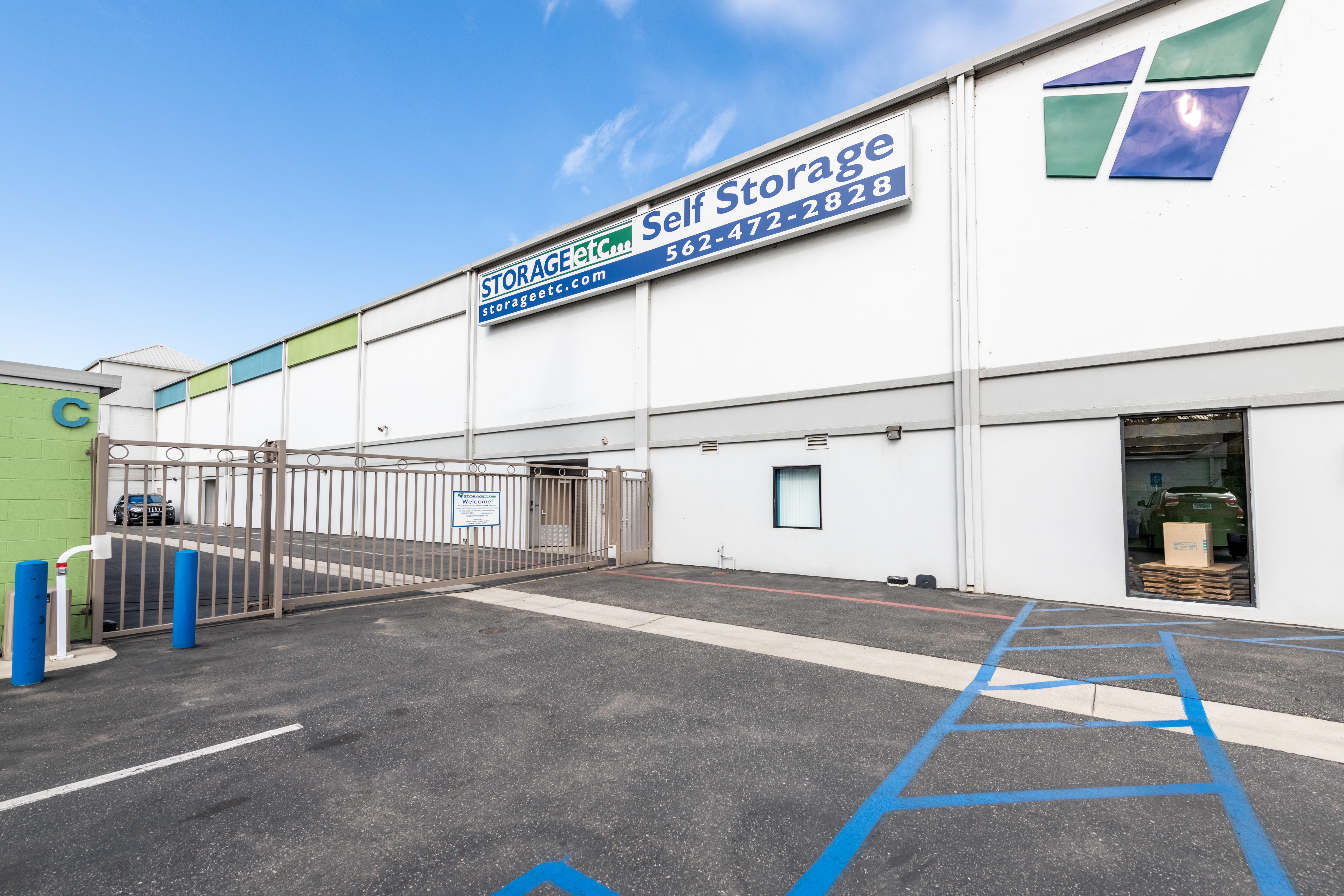 Secure Storage Entrance at Storage Etc... Long Beach