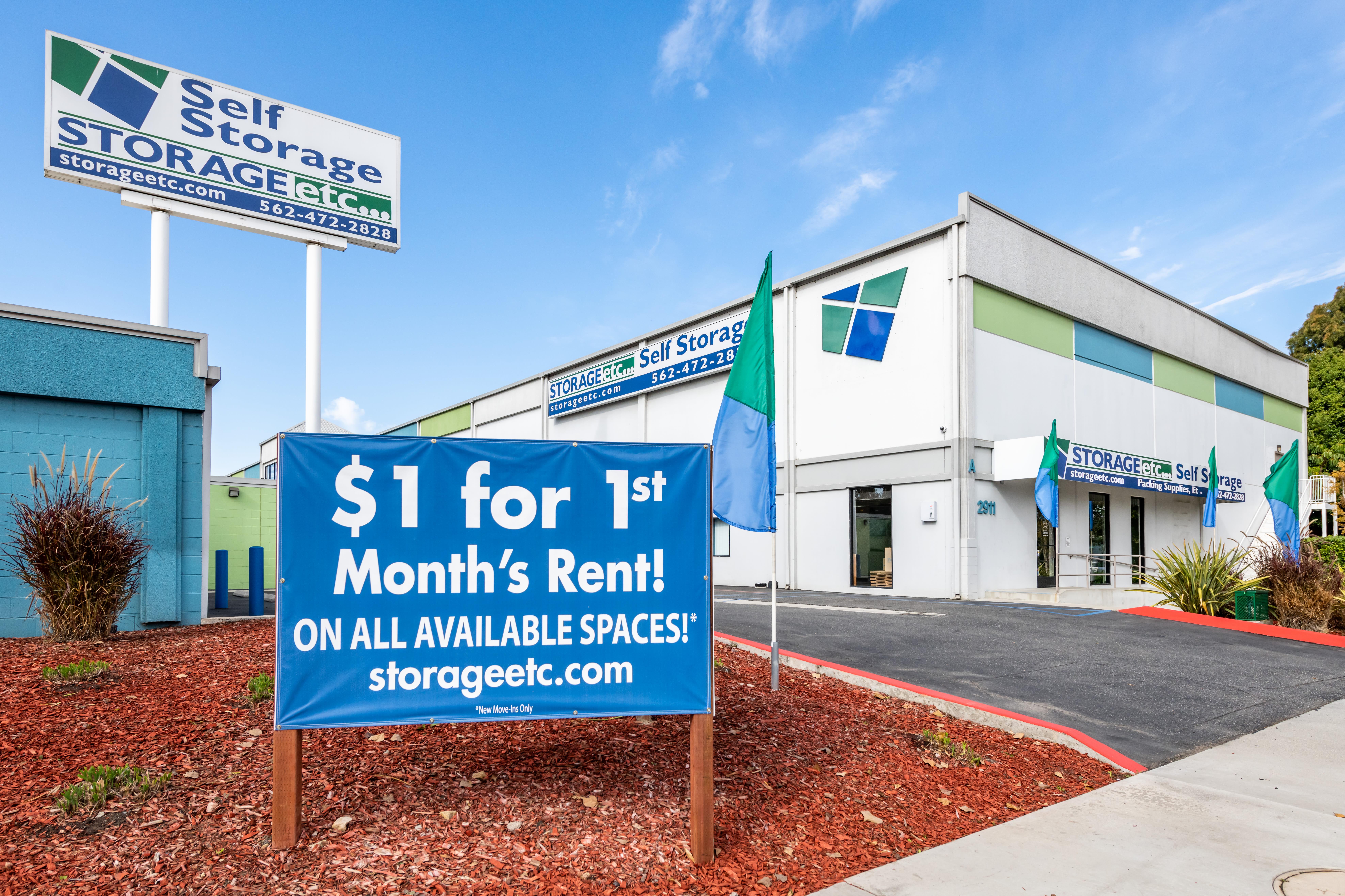 Signage at Storage Etc... Long Beach