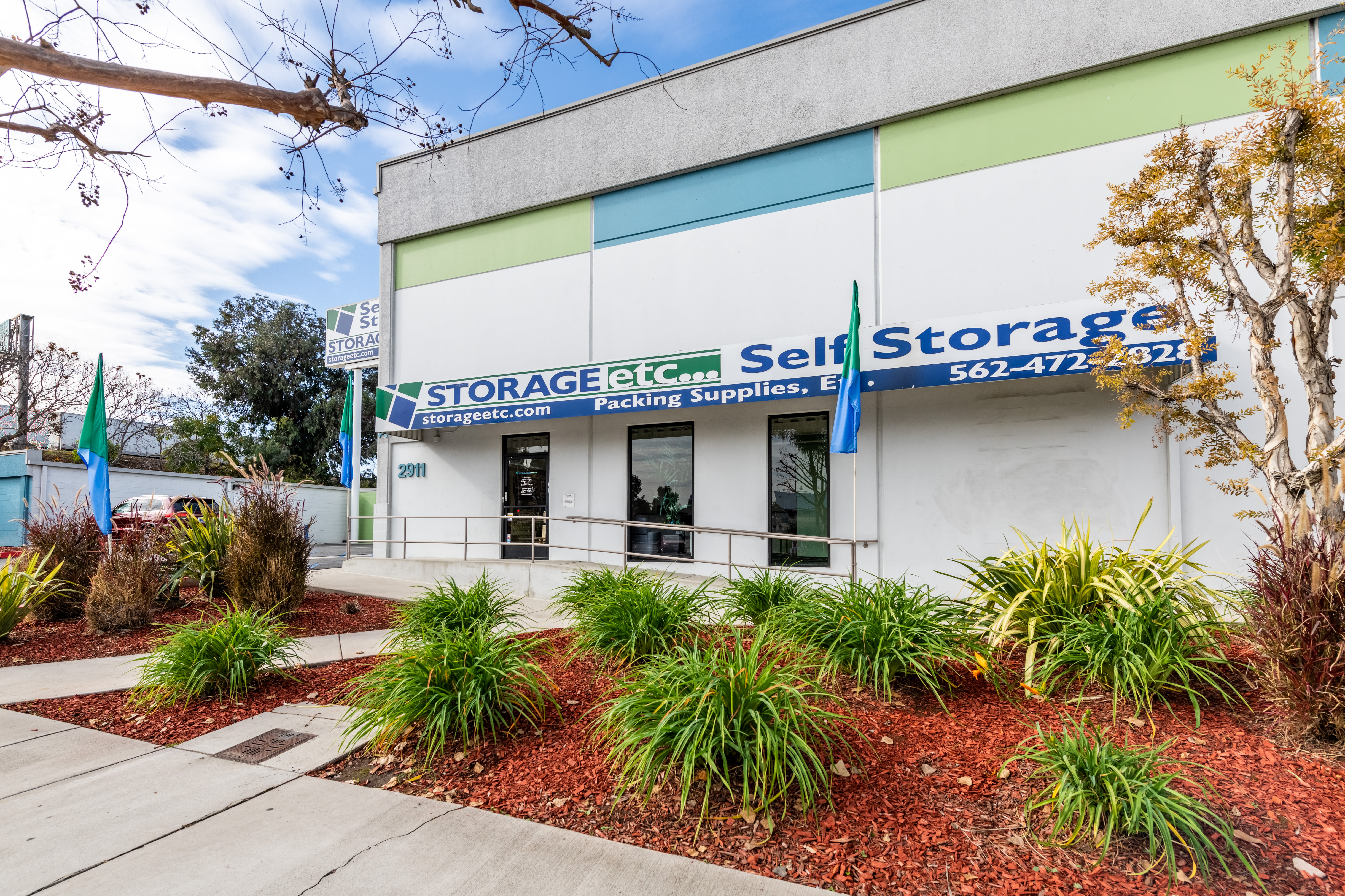 Exterior image of building at Storage Etc... Long Beach