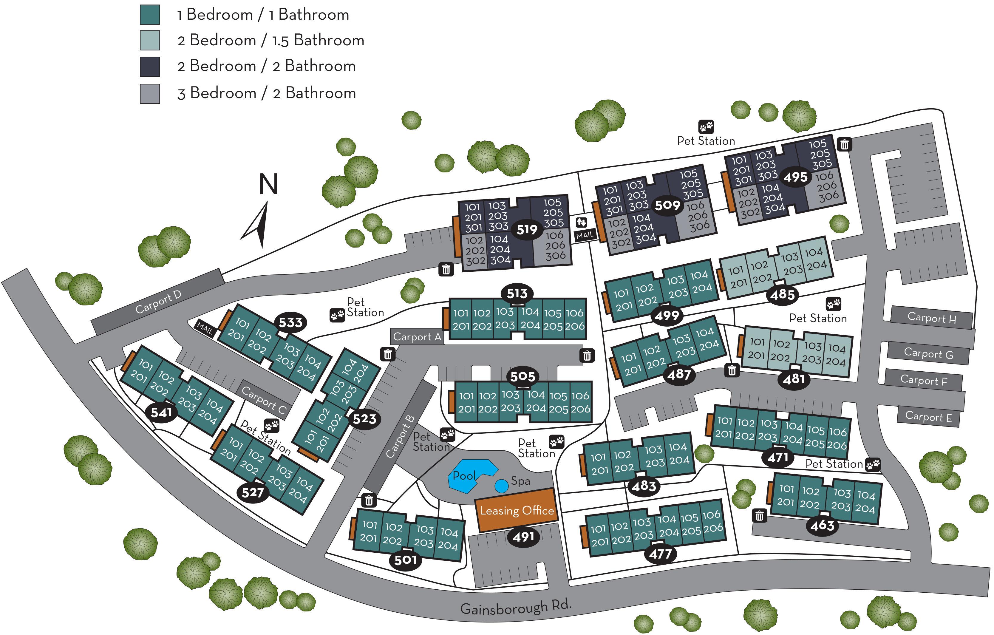 The neighborhood map of Sofi Thousand Oaks in Thousand Oaks, California