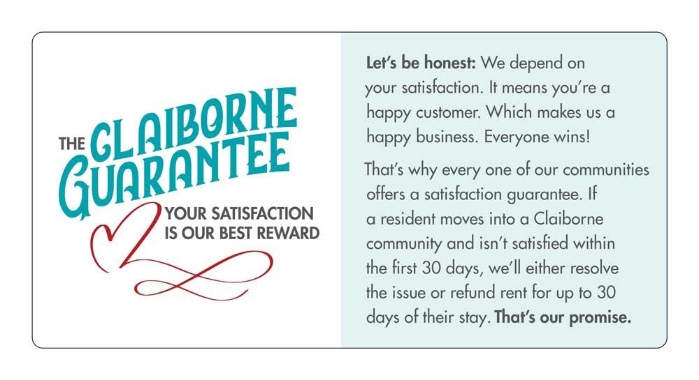 Claiborne Guarantee