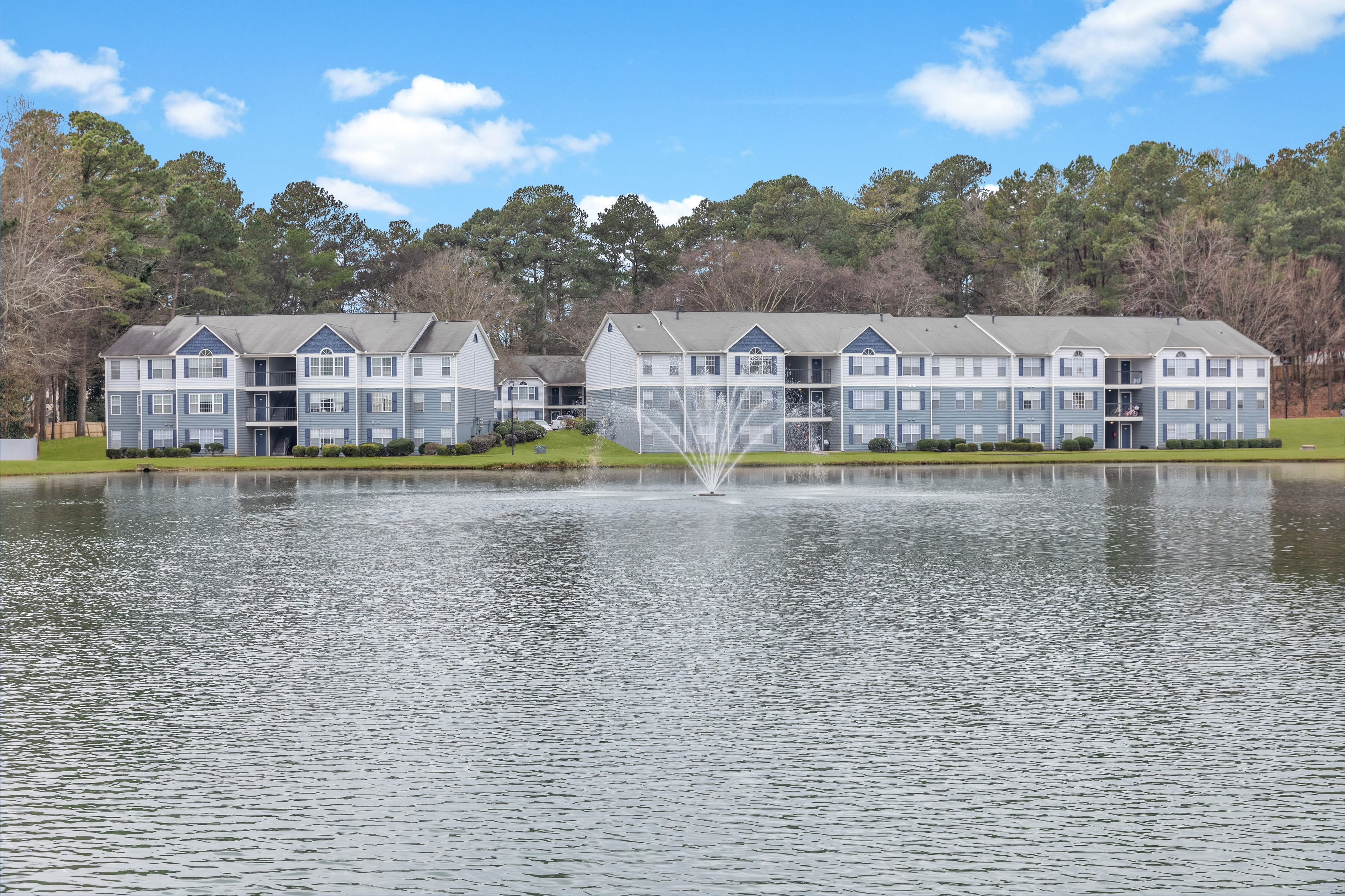 Peaceful lake views at The Bentley at Marietta in Marietta, GA