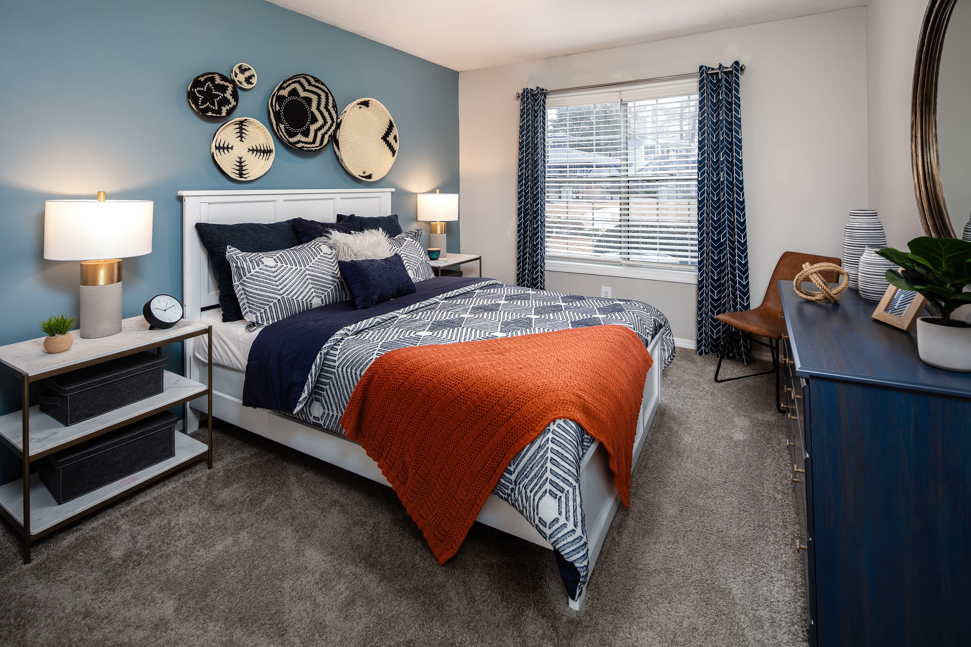 Renovated bedrooms at The Bentley at Marietta in Marietta, GA