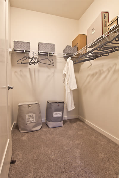 Spacious walk-in closet at Park West 205 Apartment Homes in Pittsburgh, Pennsylvania