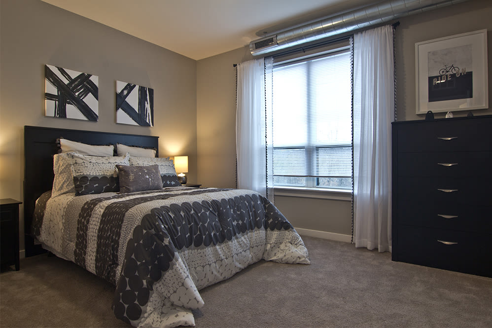 Spacious bedroom at Park West 205 Apartment Homes in Pittsburgh, Pennsylvania