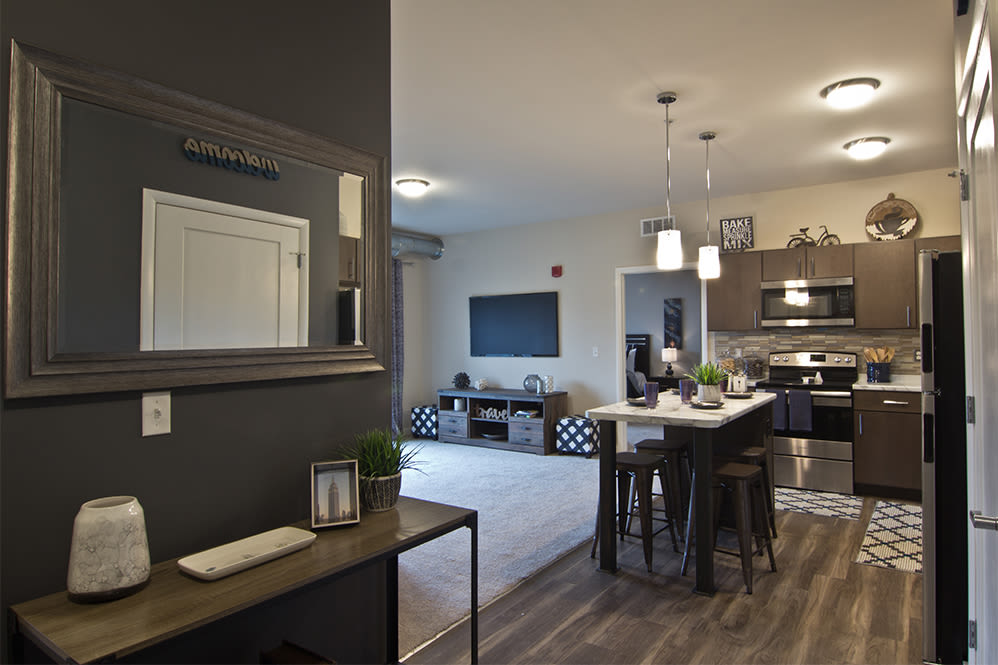 Open floorplans at Park West 205 Apartment Homes in Pittsburgh, Pennsylvania