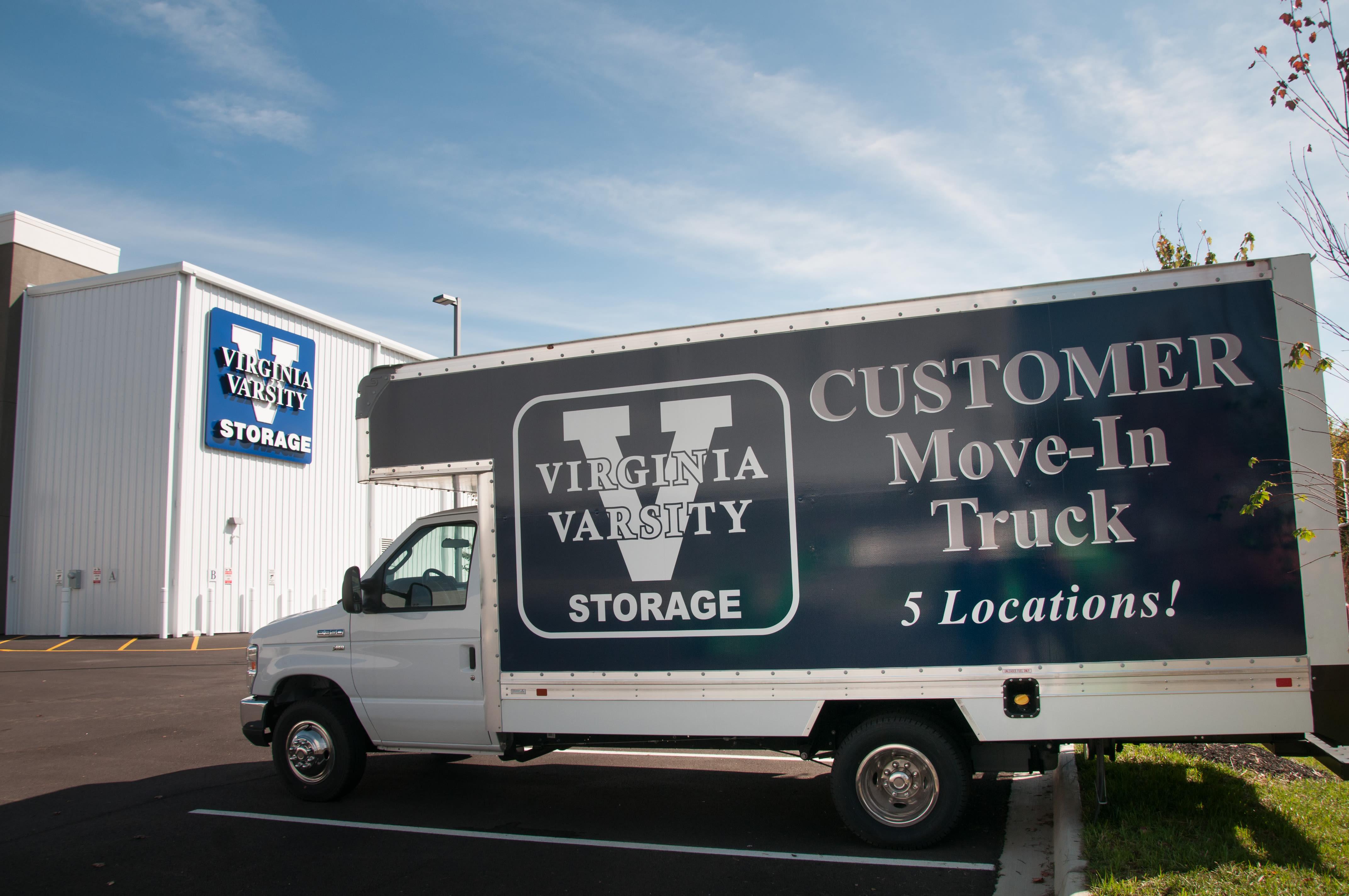 Free moving truck at Virginia Varsity Storage in Roanoke, Virginia