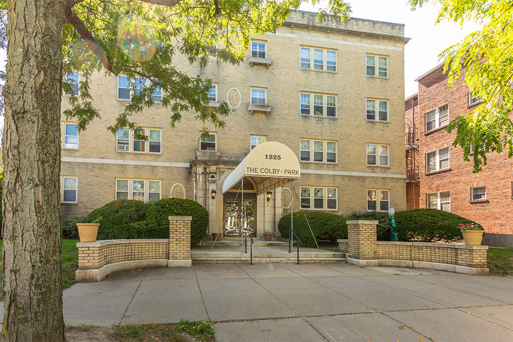 Exterior of Colby, Carlton, and Colby Park Apartments in Rochester New York
