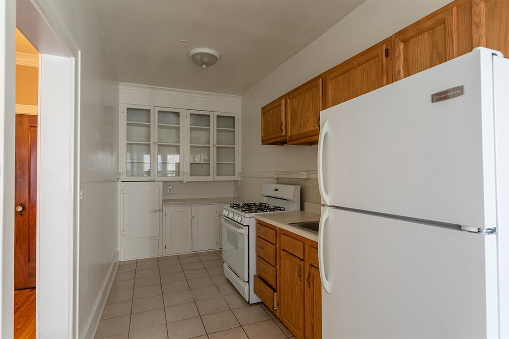 Equipped kitchen at Colby, Carlton, and Colby Park Apartments in Rochester New York