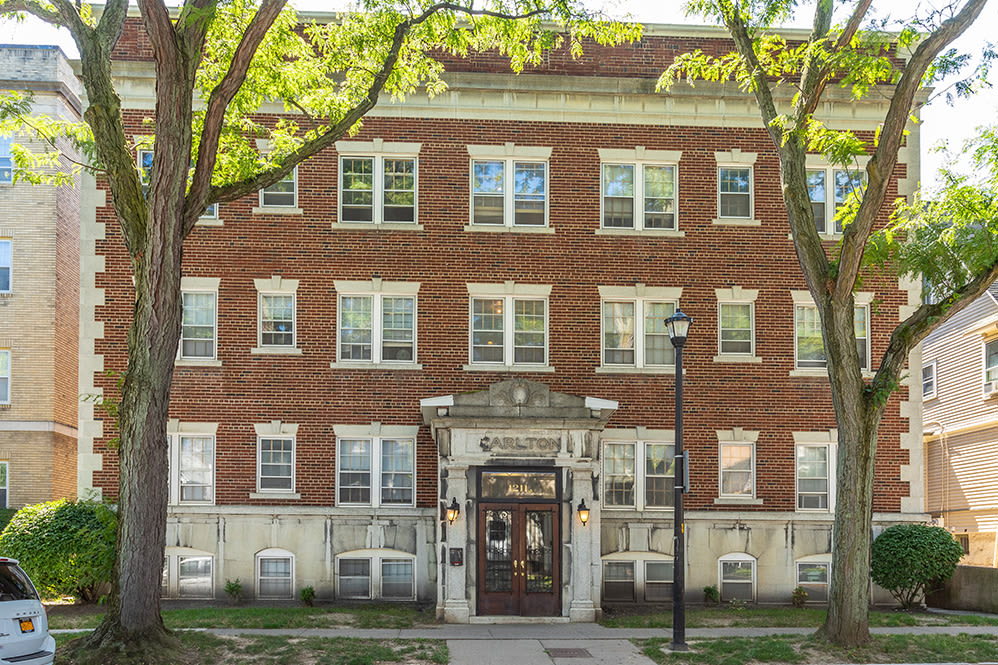 Exteriors of our apartments at Colby, Carlton, and Colby Park Apartments in Rochester New York