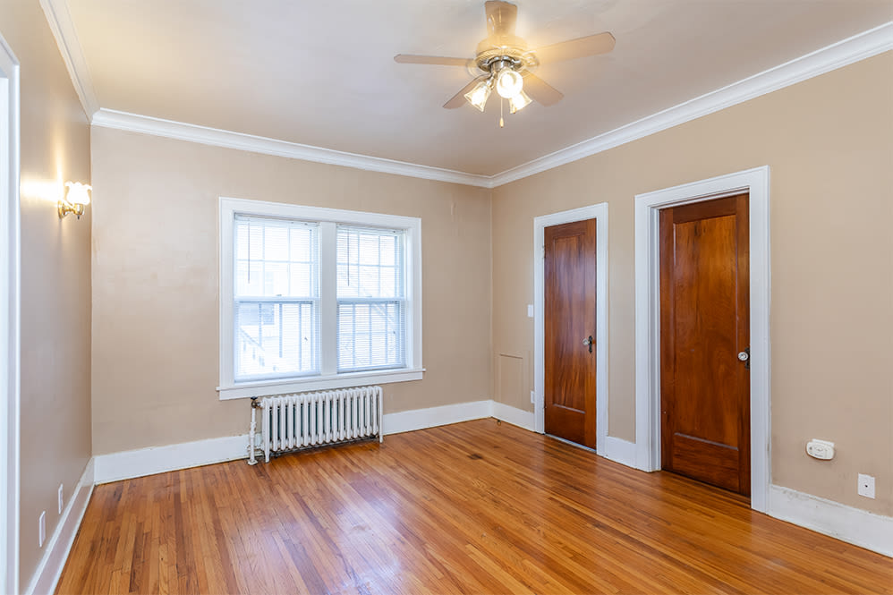 Ceiling fan at Colby, Carlton, and Colby Park Apartments in Rochester New York