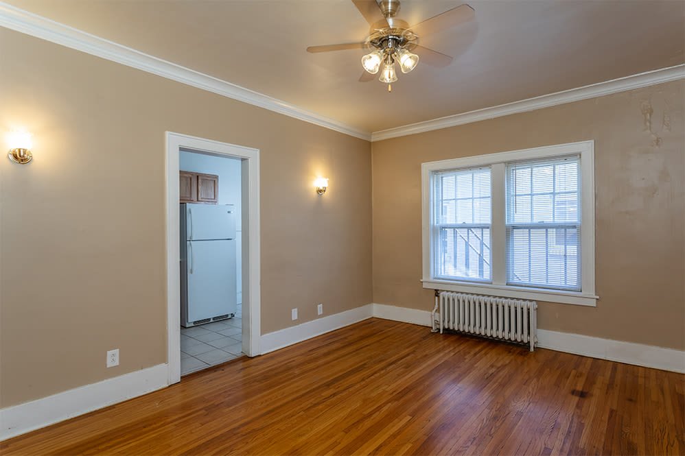 Living room at Colby, Carlton, and Colby Park Apartments in Rochester New York