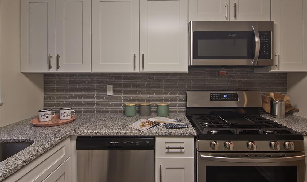 Kitchen at The Avalon Apartment Homes in Avalon, Pennsylvania