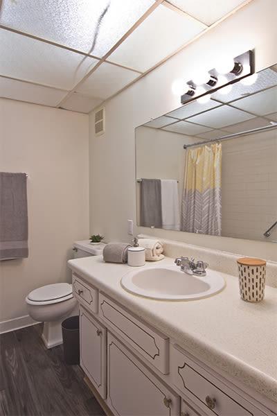 Bathroom at The Avalon Apartment Homes in Avalon, Pennsylvania
