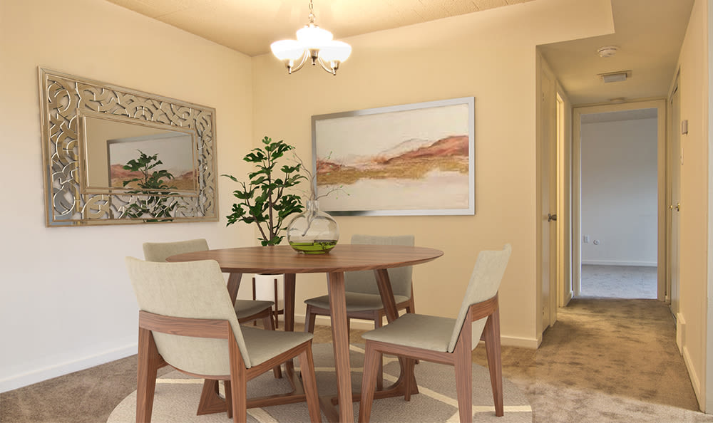 Spacious dining room at The Avalon Apartment Homes in Avalon, Pennsylvania