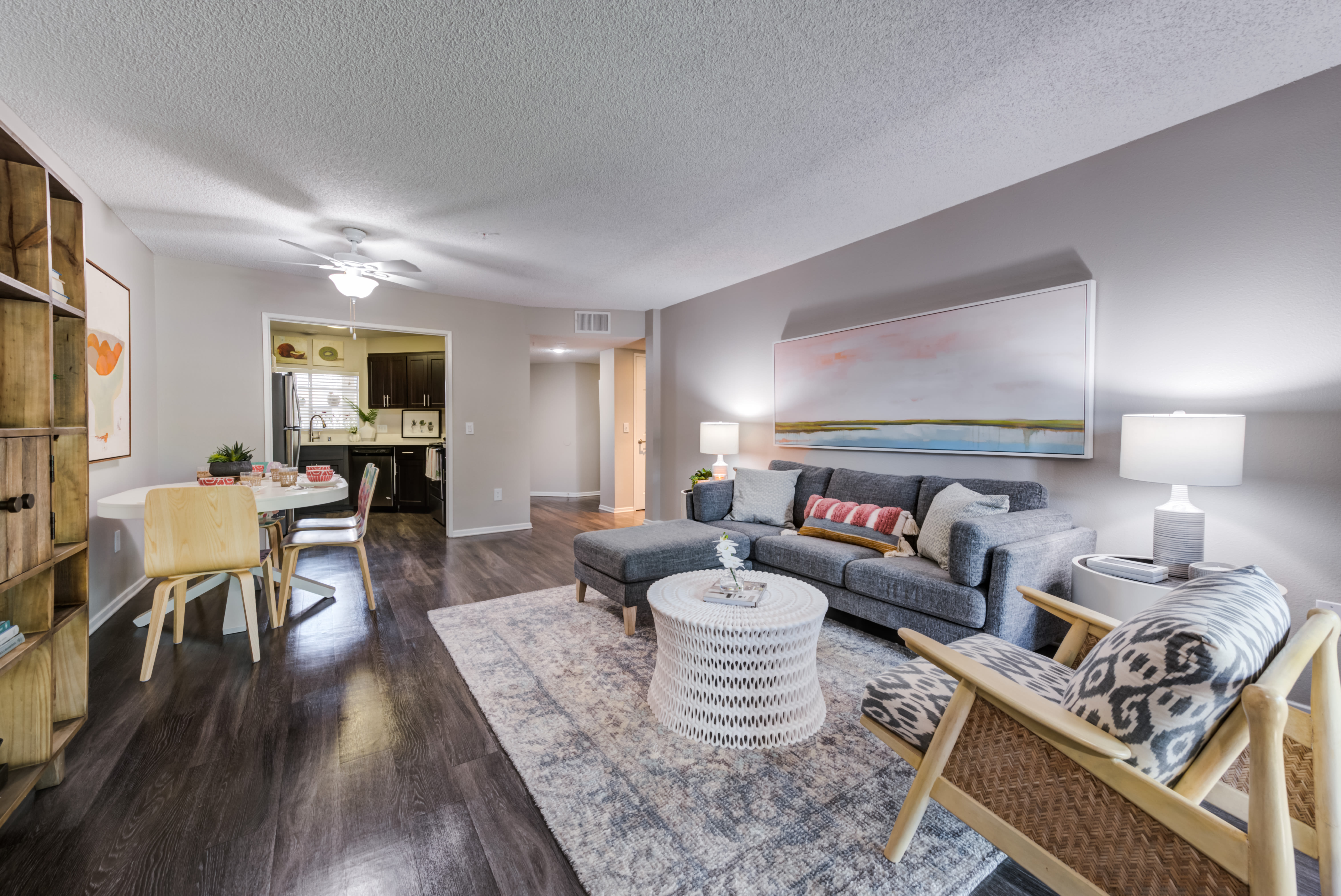 Living Room at Sierra Heights Apartments in Rancho Cucamonga, California