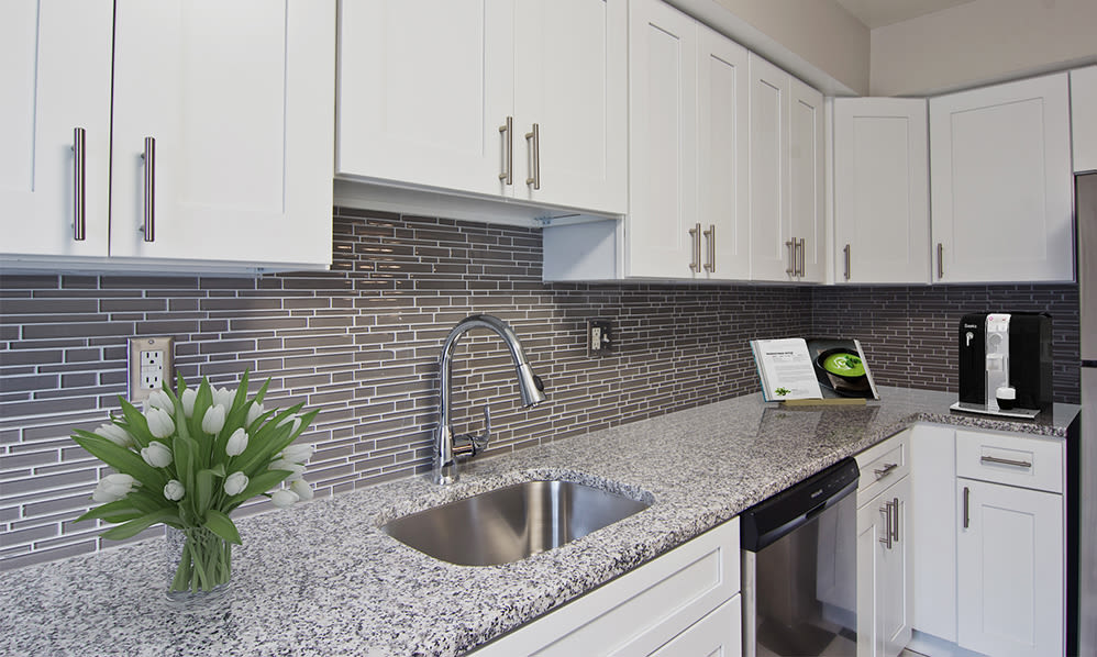 Modern kitchen at Nineteen North Apartments in Pittsburgh, Pennsylvania