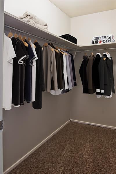 Walk-in closet at Nineteen North Apartments in Pittsburgh, Pennsylvania