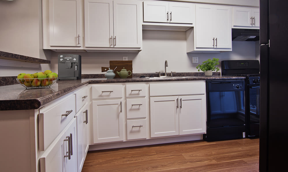 Kitchen at Nineteen North Apartments in Pittsburgh, Pennsylvania