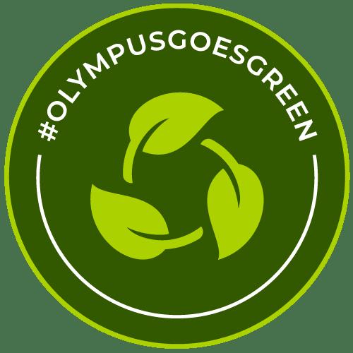 Olympus goes green badge