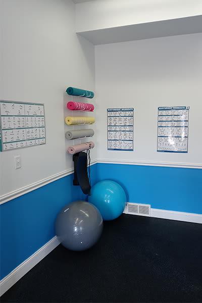 Fitness center at Avon Commons in Avon, New York