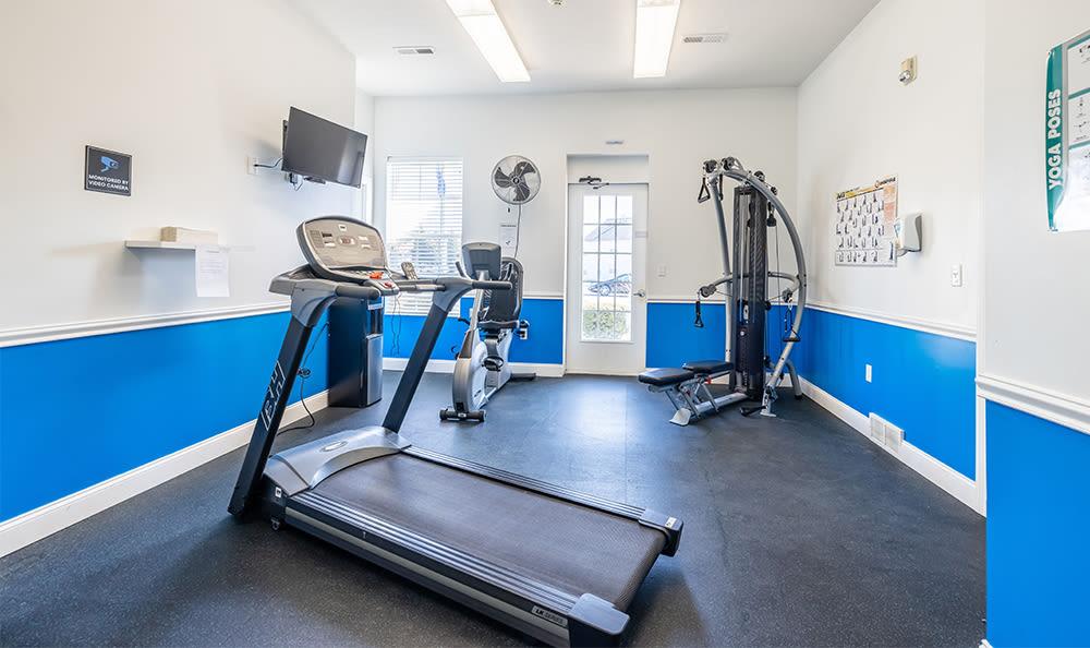 Fitness equipment at Avon Commons in Avon, New York