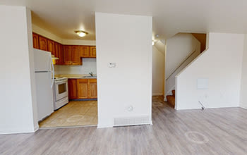 Virtual tour of a two bedroom townhouse at Riverton Knolls in West Henrietta, New York