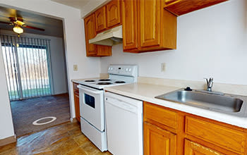 Virtual tour of a two bedroom apartment at Riverton Knolls in West Henrietta, New York