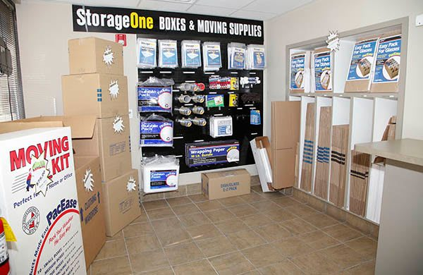 Moving supplies at StorageOne Horizon & Sandy Ridge in Henderson, Nevada