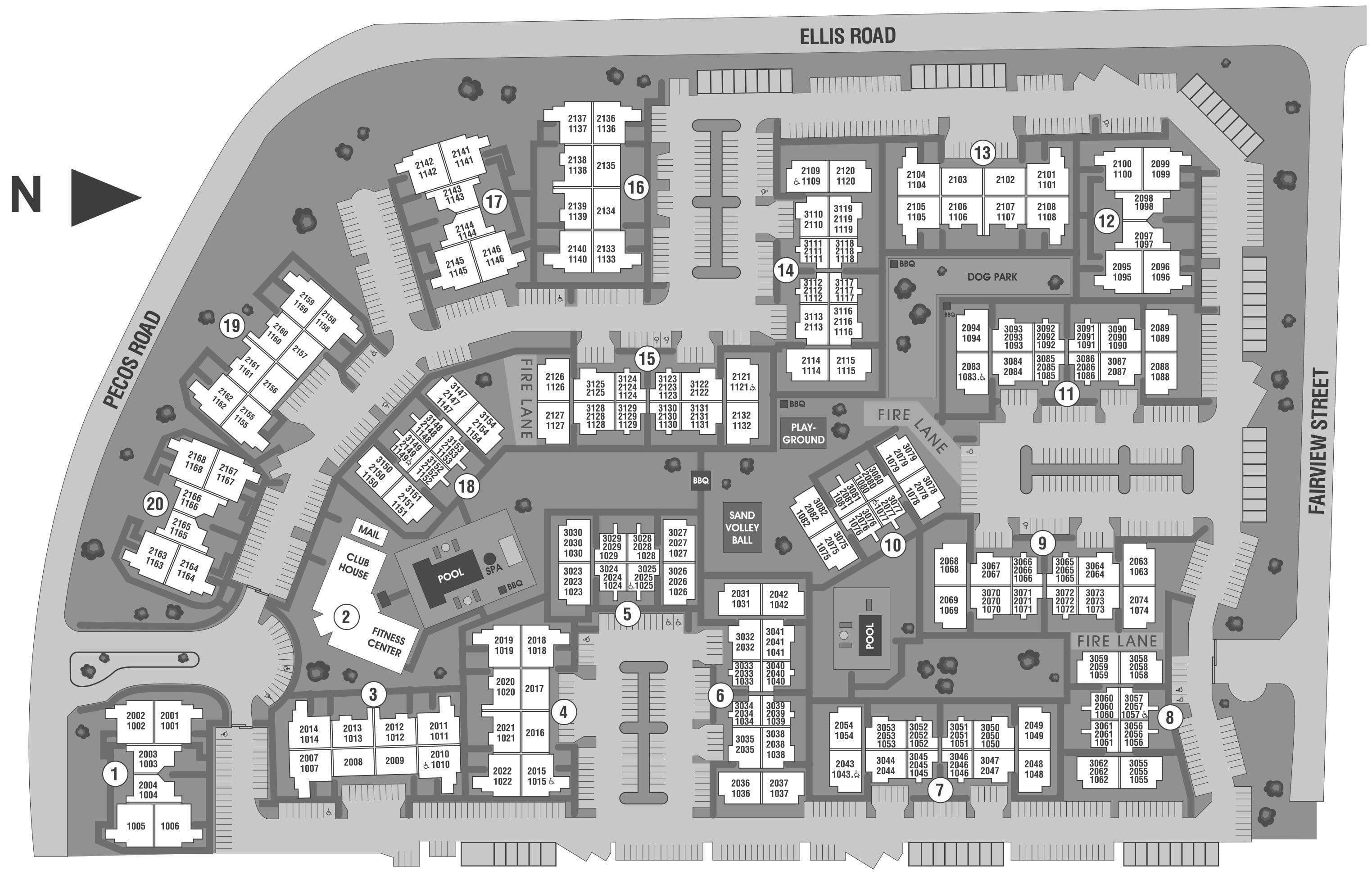 Stone Oaks site plan