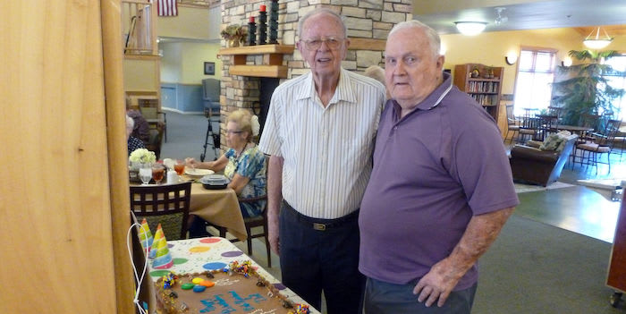 Reinhard and Del at their Birthday table