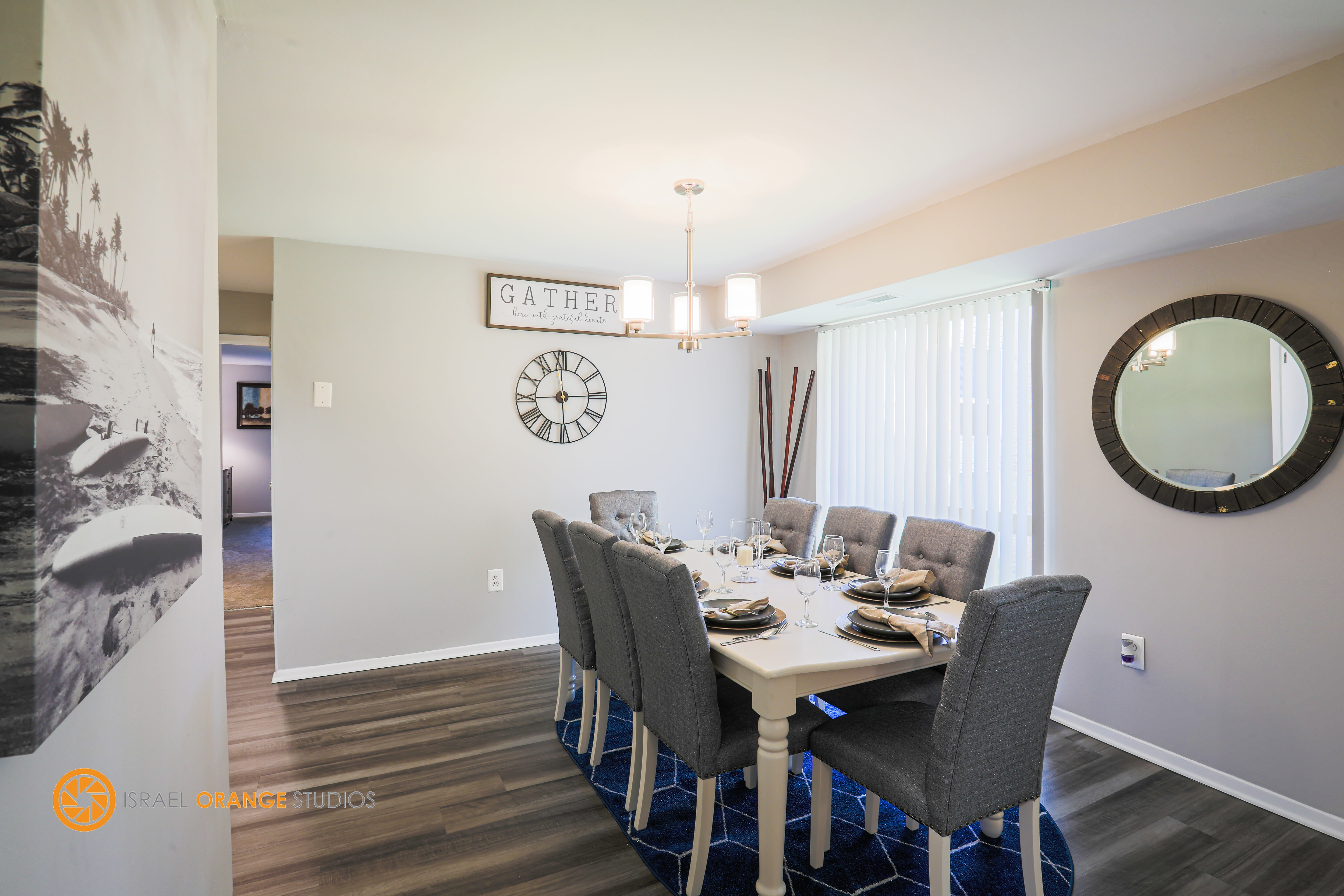 Spacious dining room at The Glendale Residence in Lanham, Maryland