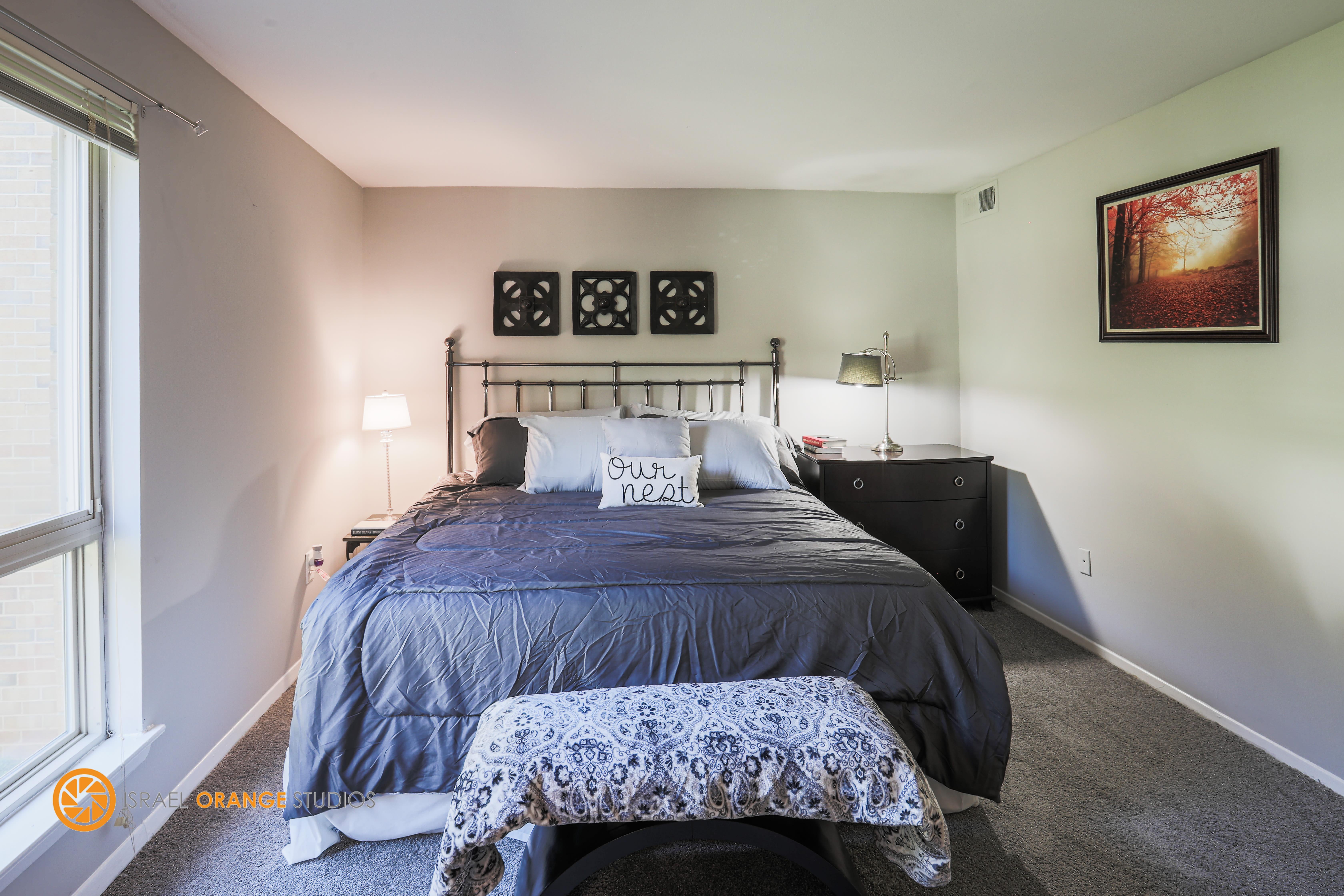 Large bedroom at The Glendale Residence in Lanham, Maryland