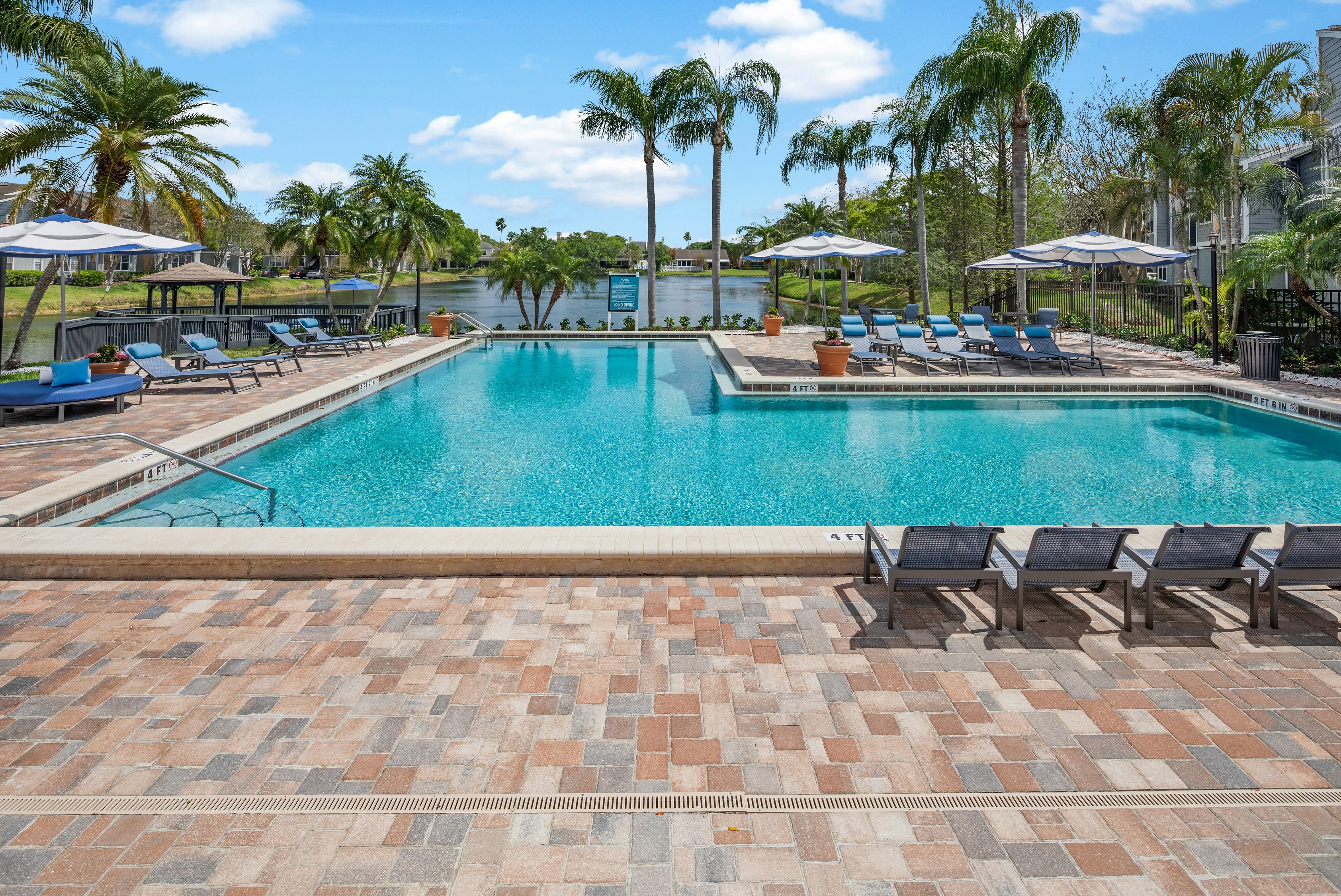 A large pool at Fairways at Feather Sound in Clearwater, FL