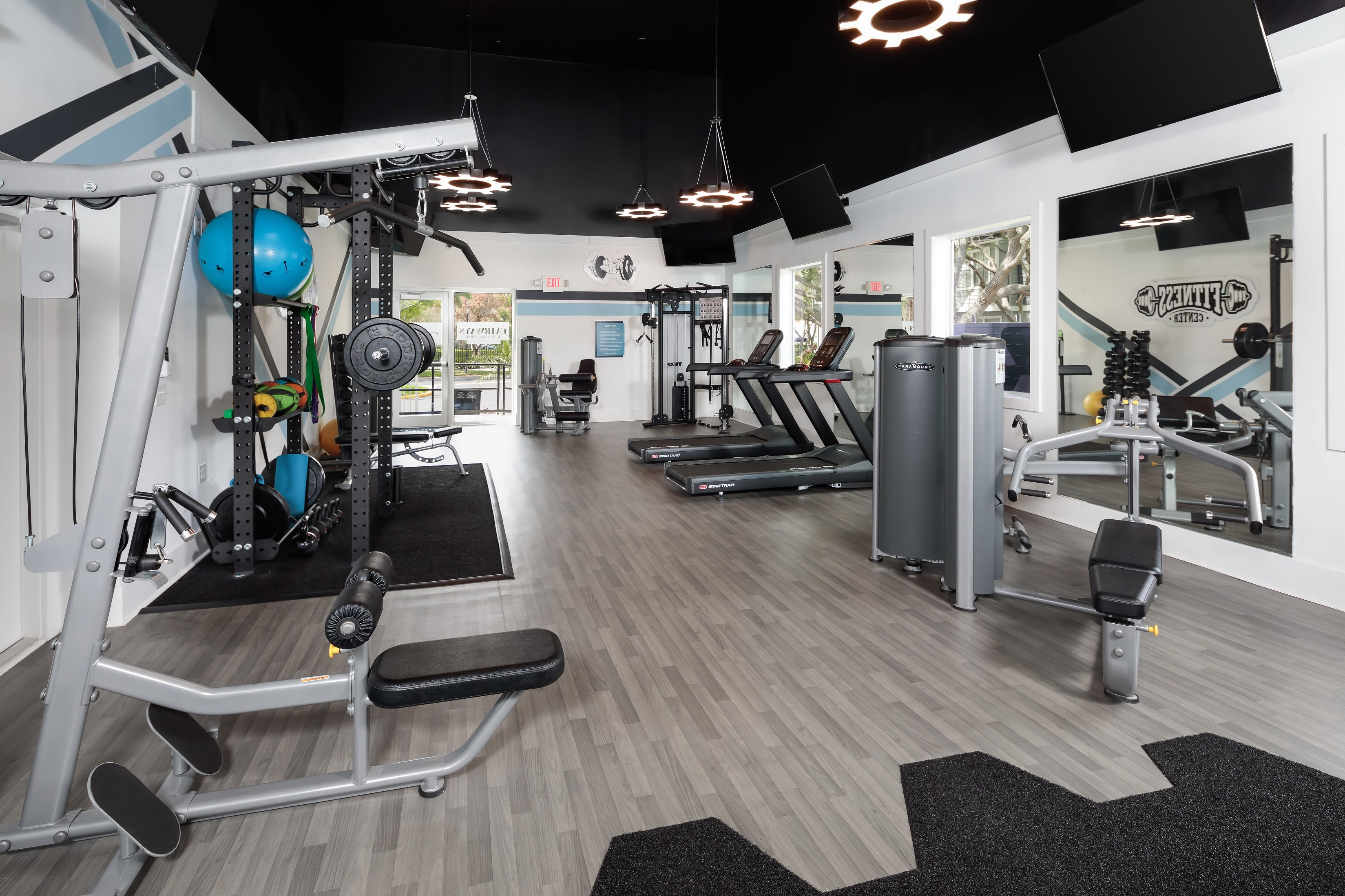 A work out room in an apartment at Fairways at Feather Sound in Clearwater, FL