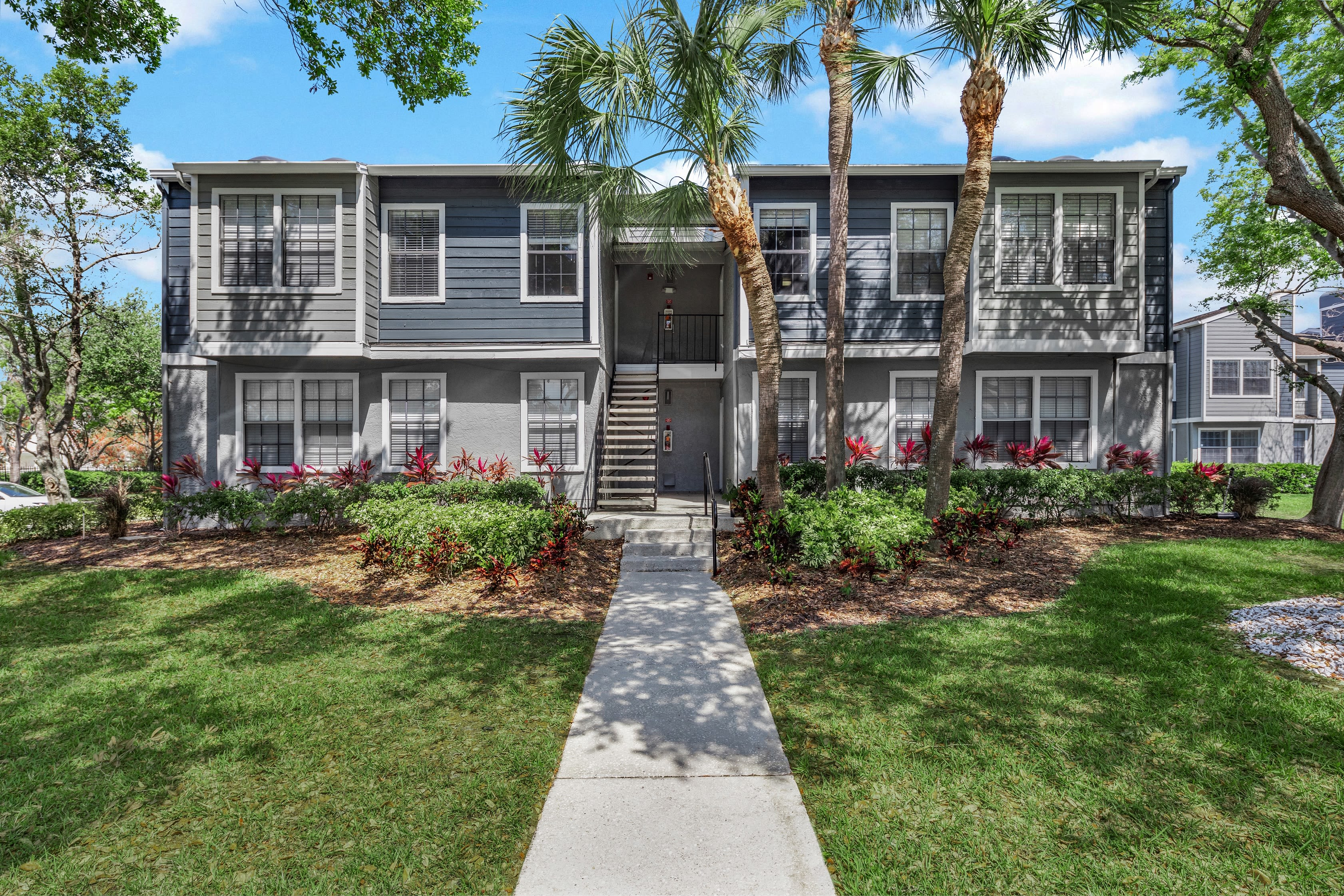 A large apartment building at Fairways at Feather Sound in Clearwater, FL