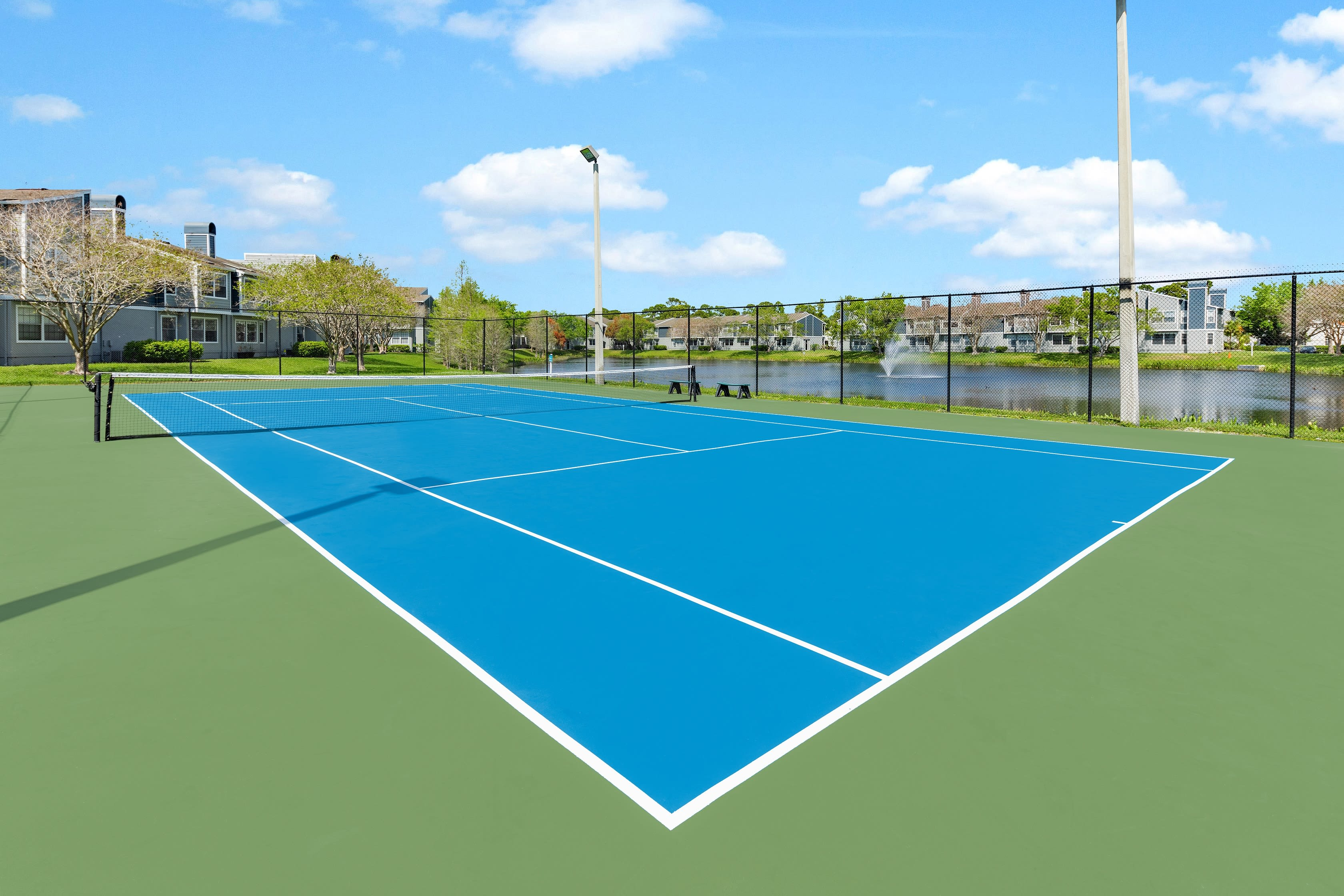 A tennis court at Fairways at Feather Sound in Clearwater, FL