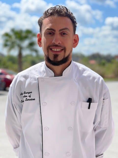 Angel Burgos,  Executive Chef at Keystone Place at Terra Bella in Land O' Lakes, Florida
