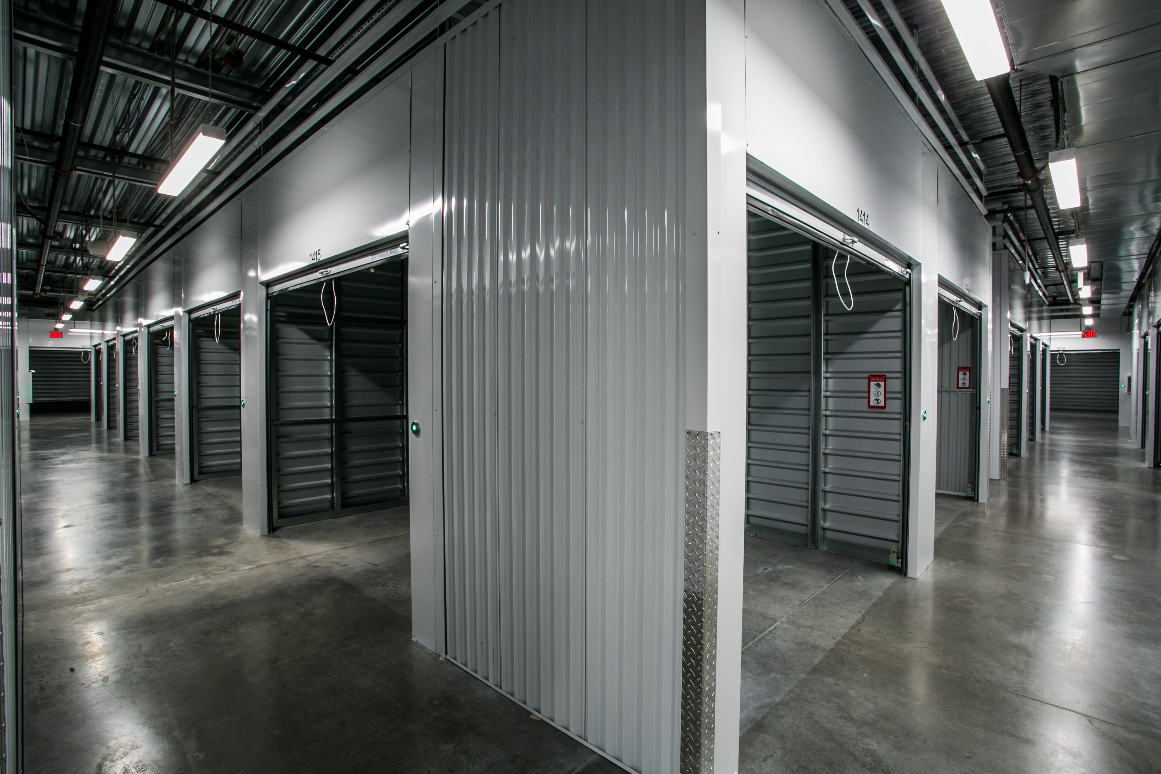 Open indoor storage units at Golden State Storage - Blue Diamond in Las Vegas, Nevada