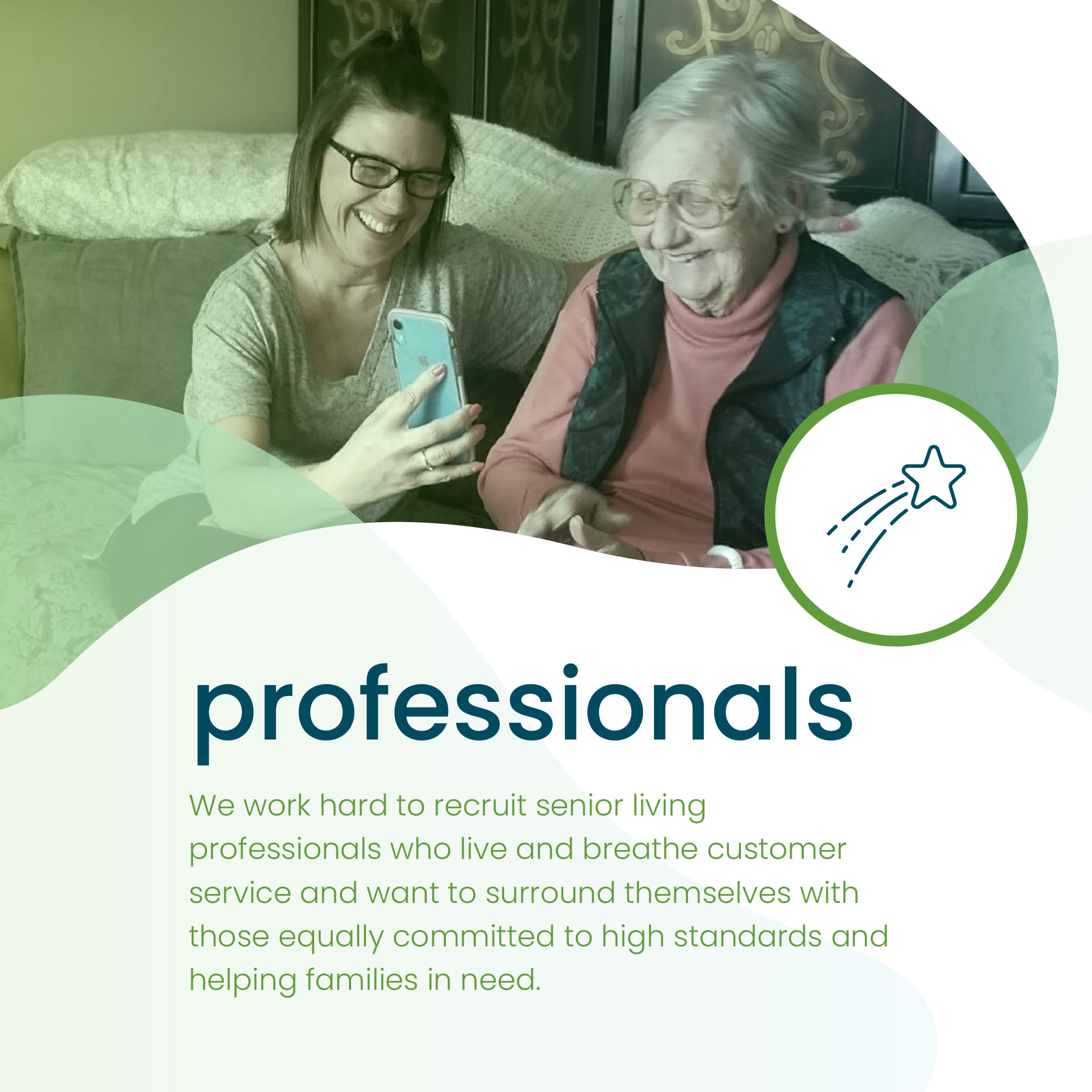senior care professional and resident at Hearth Management