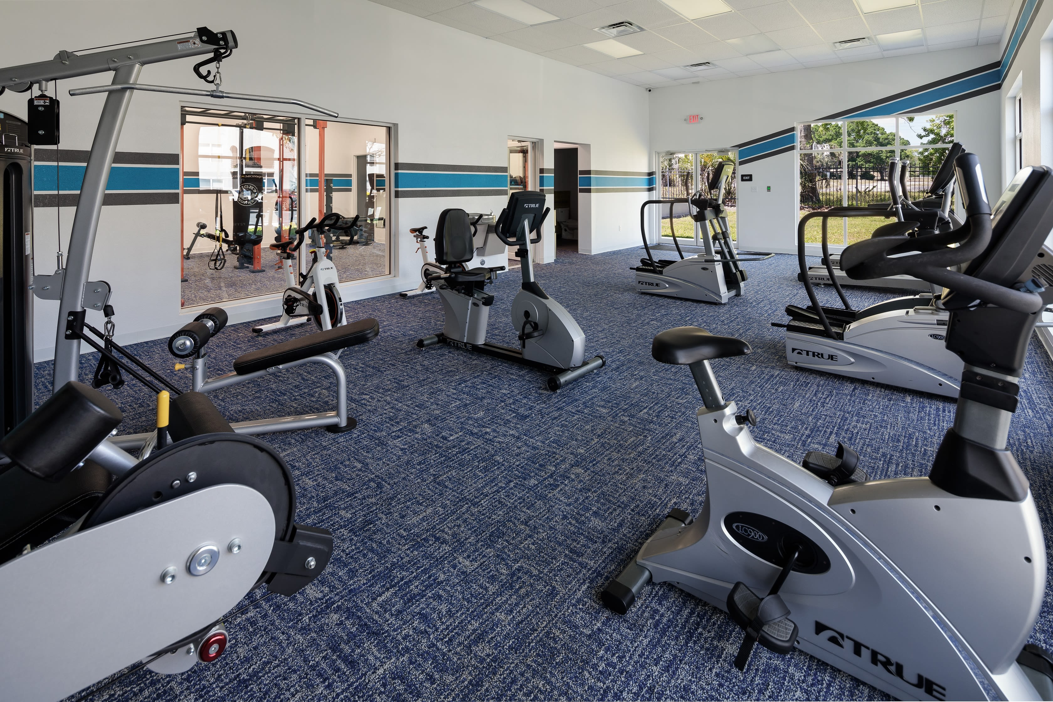 A work out room in an apartment at Onyx Winter Park in Casselberry, FL