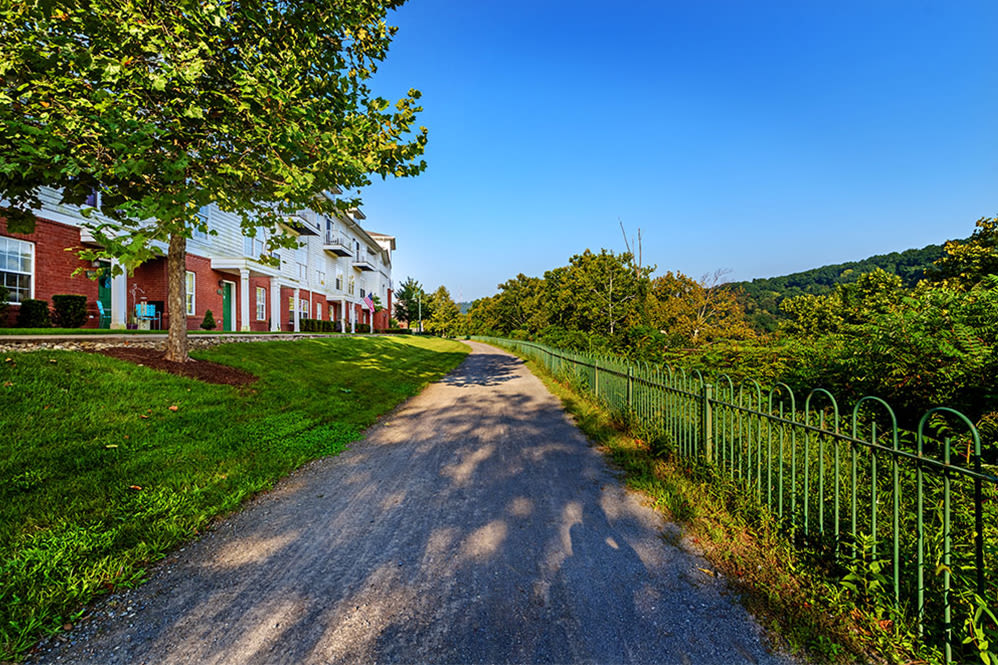 Waterfront trail at The Waterfront Apartments & Townhomes in Munhall, Pennsylvania
