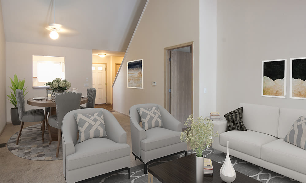 High-ceilings at Steeplechase Apartments & Townhomes in Toledo, Ohio