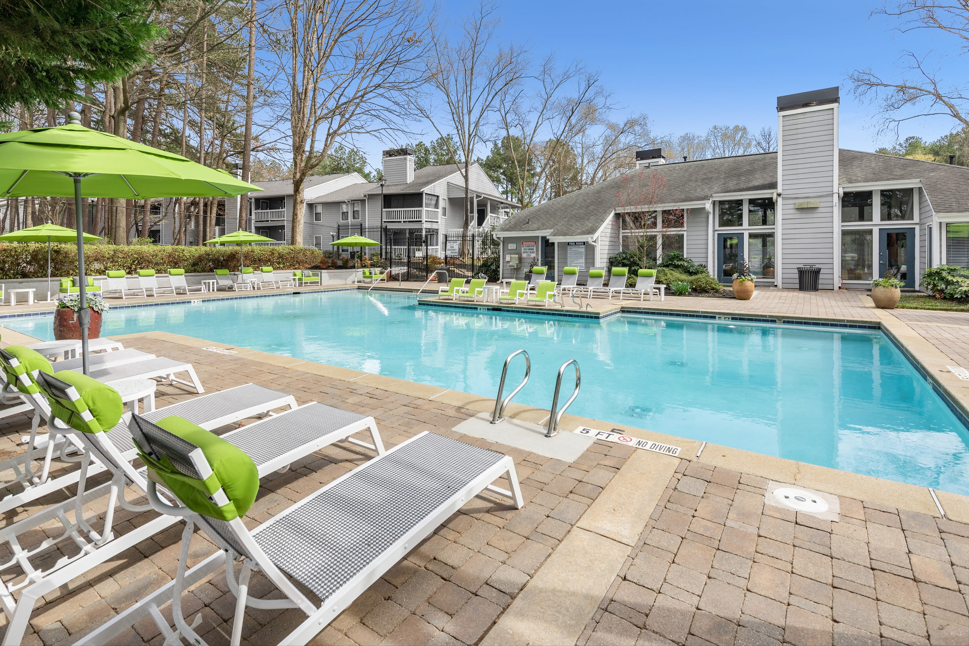 A large pool at The Franklin in Marietta, GA