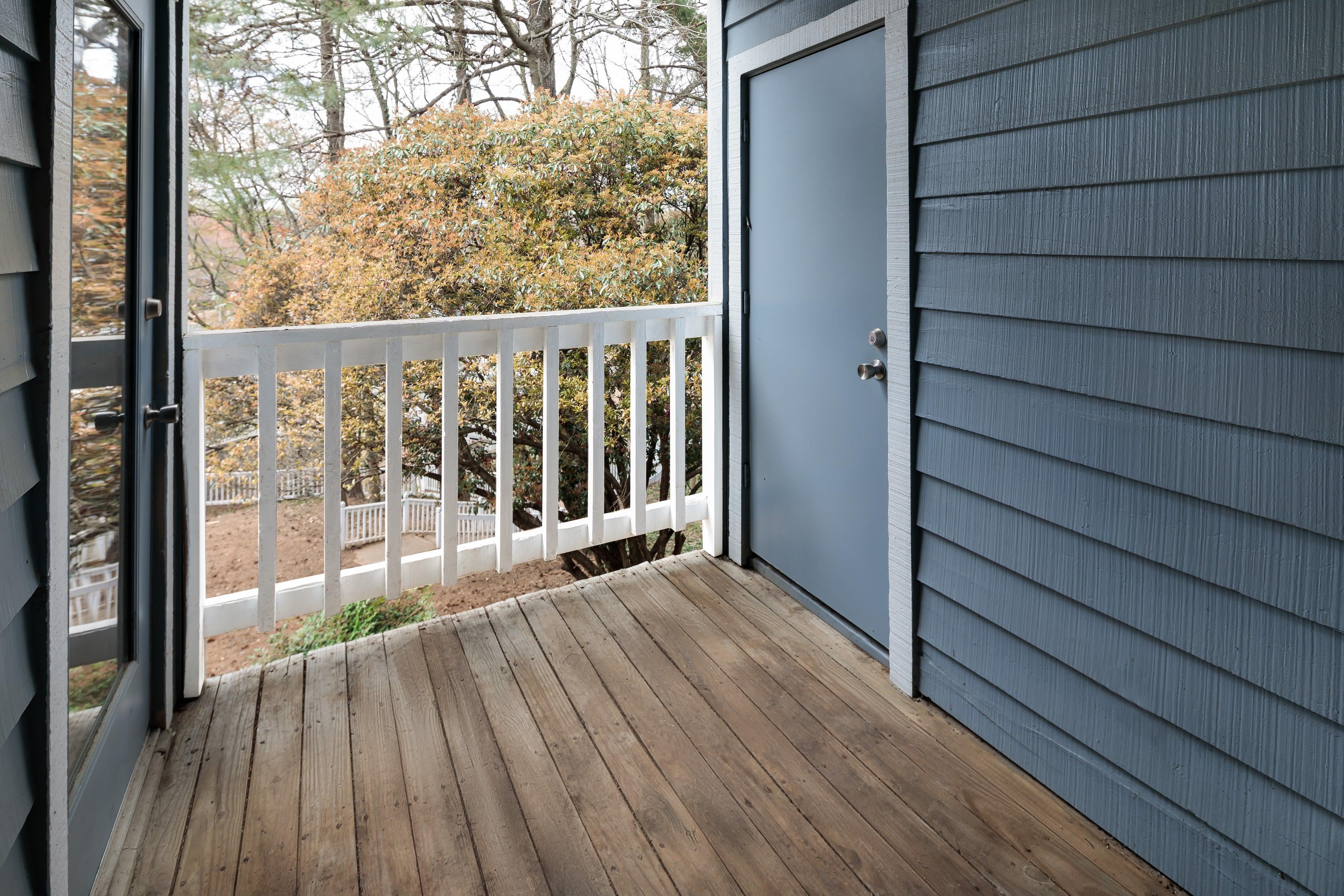A private balcony at The Everette at East Cobb in Marietta, Georgia