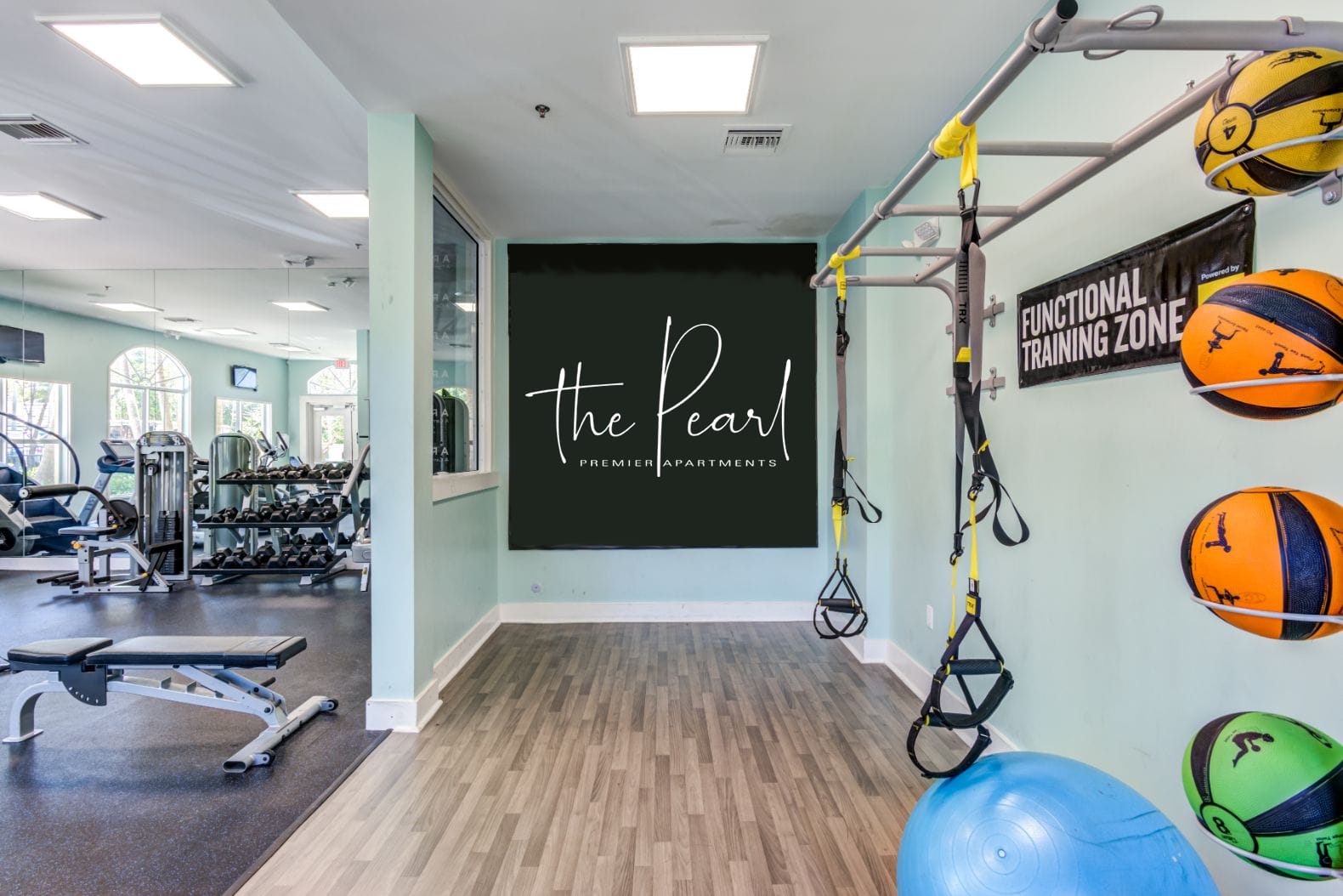 A gym at The Pearl in Ft Lauderdale, Florida