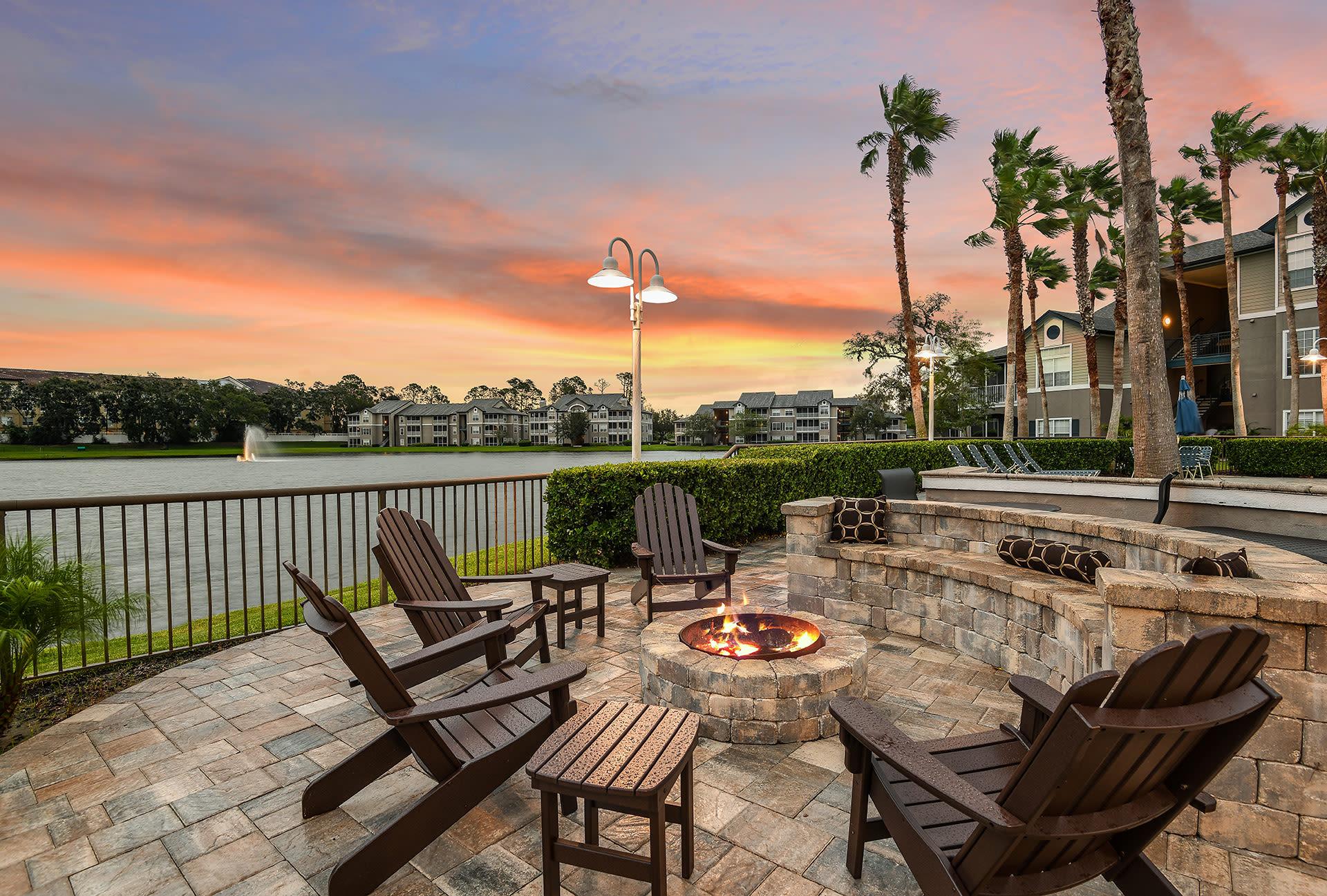 Sunset at Ocean Park of Ponte Vedra in Jacksonville Beach, Florida