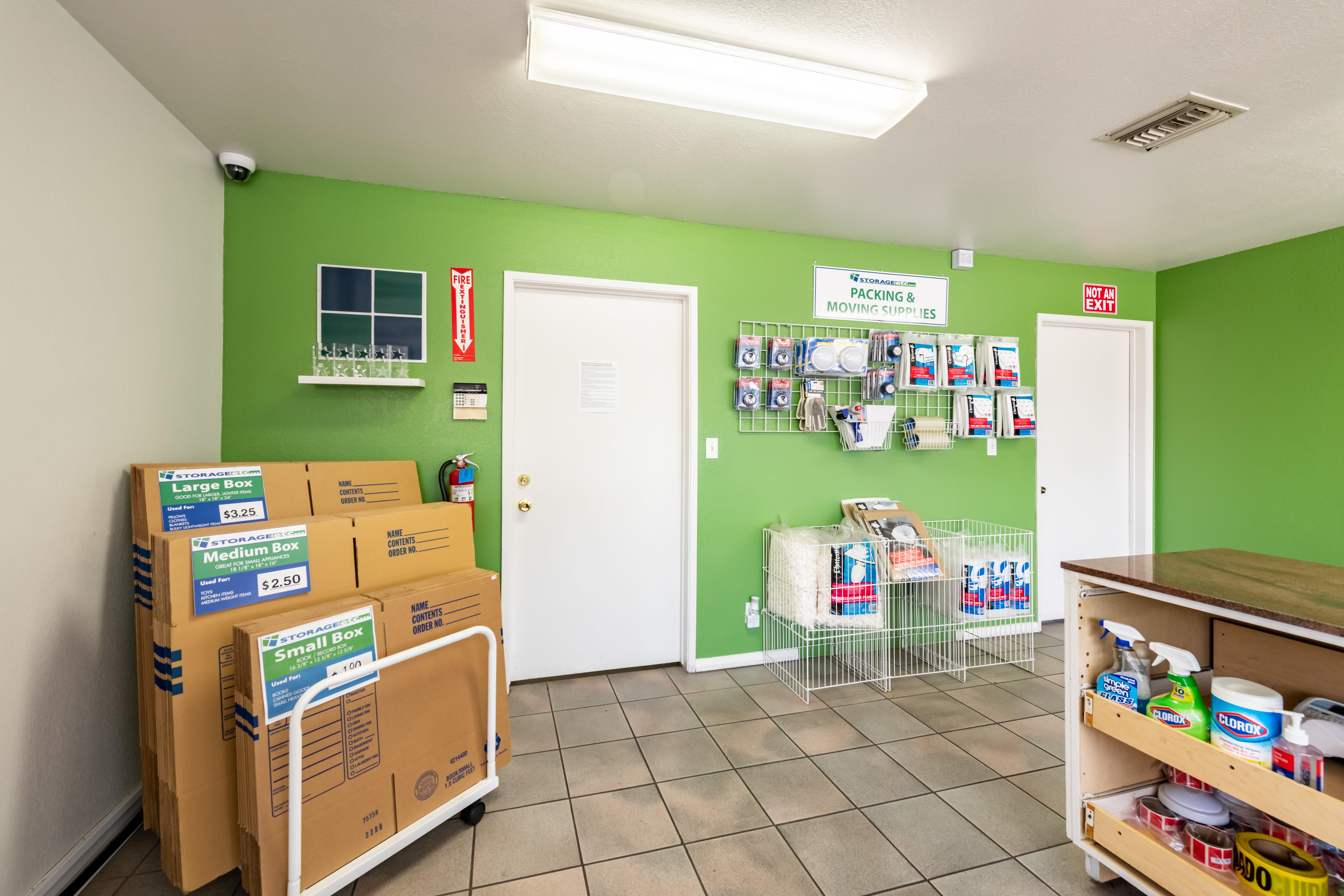 Packing supplies at Storage Etc... Pomona